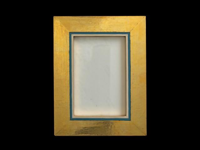 Goldrahmen blauweiß