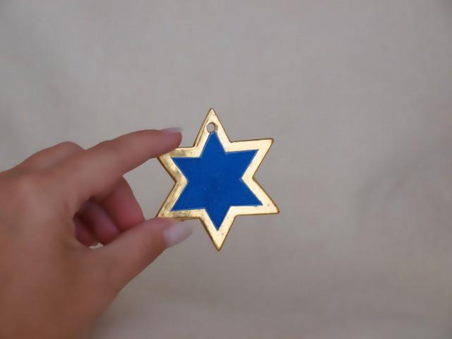 Sternchen (sechszackig, dunkelblau)