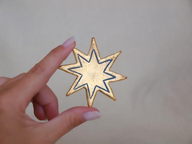 Sternchen (achtzackig, dunkelblau)